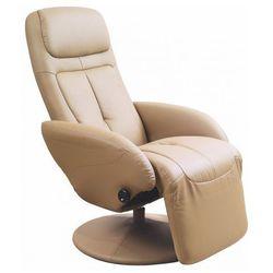 Rozkładany fotel obrotowy Timos - beżowy