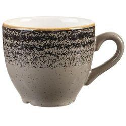 Filiżanka do espresso 100 ml | CHURCHILL, Homespun Style Charcoal Black
