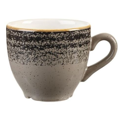 Filiżanki, Filiżanka do espresso 0,1 l | CHURCHILL, Homespun Style Charcoal Black