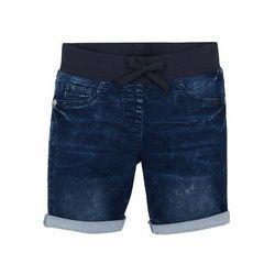 """Szorty dresowe w optyce dżinsowych dziewczęce bonprix niebieski """"stone"""""""