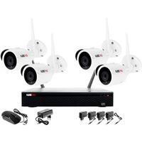 Zestawy monitoringowe, Monitoring bezprzewodowy z rejestratorem IP WIFI, 4 Kamera IP WIFI 1080P, Akcesoria
