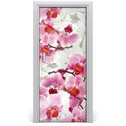Okleina Naklejka fototapeta na drzwi Różowa orchidea