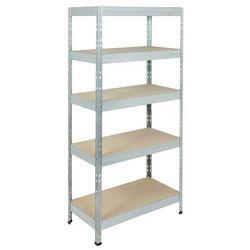 Regał metalowy Form Exa 180 x 90 x 45 cm 5 półek 250 kg ocynk