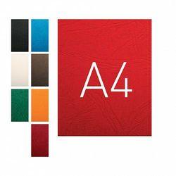 Okładki do bindowania A4 karton skóropodobny O.Universal czerwony 100szt. OPUS