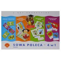 Gry dla dzieci, Sowa Mądra Głowa poleca 4w1 zestaw B. ALEXANDER (5906018017151)
