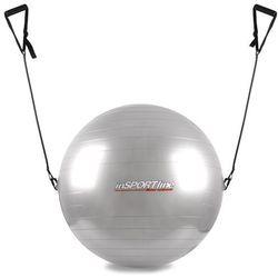 Piłka gimnastyczna z linkami 55cm inSPORTline - Kolor Szary