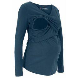 Shirt ciążowy i do karmienia piersią, bawełna organiczna bonprix ciemnoniebieski