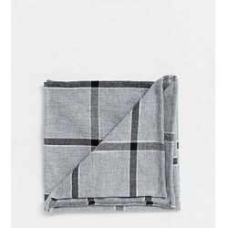 Noak pocket square in grey check - Grey