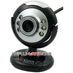 Kamera internetowa e-Com 8 MPx (czarno-srebrna)