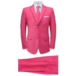 2-częściowy garnitur męski z krawatem różowy rozmiar 50
