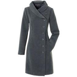Krótki płaszcz bonprix antracytowy melanż