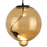Lampy sufitowe, Lampa wisząca Modern Glass Bubble koniak