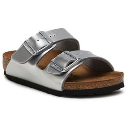 Klapki BIRKENSTOCK - Arizona Kids 1019400 Electric Metallic Silver