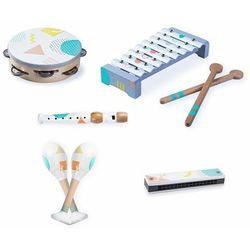 Drewniane instrumenty dla dzieci, zestaw, 5 sztuk