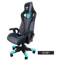 Fotele dla graczy, SELSEY Fotel gamingowy E-Blue Cobra 3 czarno-niebieski