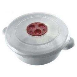 Garnek EXPRESS do kuchenki mikrofalowej 1L Biały