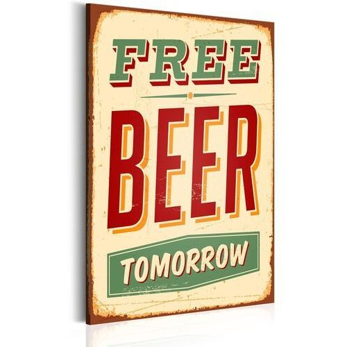 Obrazy, Obraz - Free Beer Tomorrow