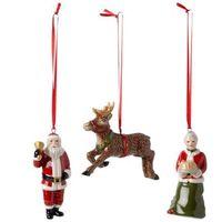 """Ozdoby świąteczne, Villeroy & Boch - Nostalgic Ornaments Komplet 3 zawieszek """"North Pole Express"""""""