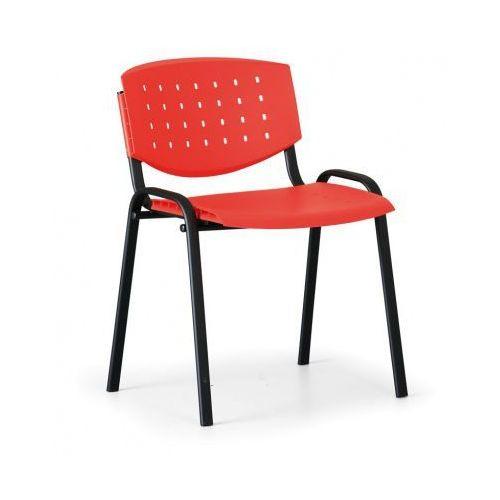 Fotele i krzesła biurowe, Krzesło konferencyjne Tony, czerwony - kolor konstrucji czarny
