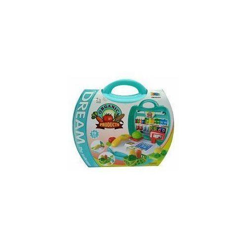 Sklepy i kasy dla dzieci, Zestaw supermarket - owoce 11x23x22cm