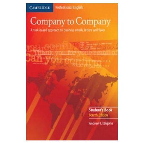 Książki do nauki języka, Company To Company. 4th Edition Książka Ucznia (opr. miękka)