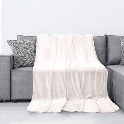 Koc narzuta na fotel AMELIA 70x150 wzór TYLER krem