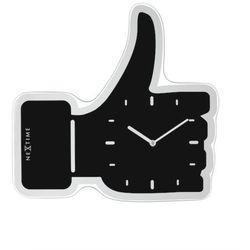 Nextime:: Zegar Ścienny Thumbs Up 41,5 x 40cm Czarny - czarny