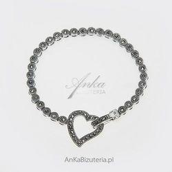 Bransoletka srebrna z markazytami - trafiony pomysł na prezent dla dziewczyny