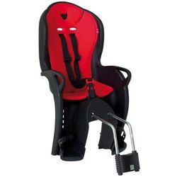 Fotelik rowerowy KISS czarny, czerwona wyściółka