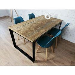 Industrialny stół metalowy RENO 160/90 Stare drewno szczotkowane