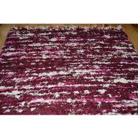 Chodniki, Chodnik bawełniany ręcznie tkany bordowo-różowo-ecru 65x120 (k-23)