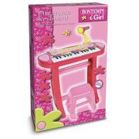 Instrumenty dla dzieci, Organy elektroniczne 31 klawiszy z mikrofonem, statywem, stołkiem