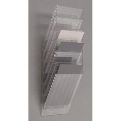 Uchwyt ścienny na prospekty, format pionowy, 6 x DIN A4, opak. 2 szt., przezrocz