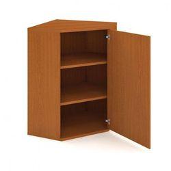 Szafka Select narożna wewnętrzna z drzwiami, prawa, 800 x 400 x 1152 mm, buk