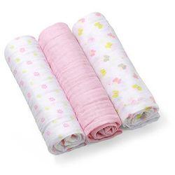 Pieluszki muślinowe Super miękkie, BabyOno, różowe - Różowe