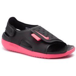 Sandały NIKE - Sunray Adjust 5 (GS/PS) AJ9076 002 Black/Racer Pink/White