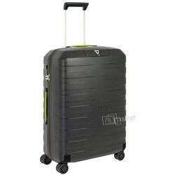 Roncato Box średnia walizka twarda / polipropylen / 69 cm - czarny / żółty