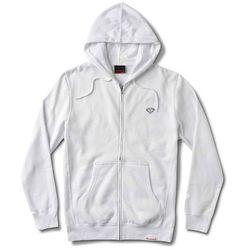 bluza DIAMOND - Micro Brilliant Zip Hoodie White (WHT) rozmiar: L