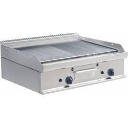 Płyta grillowa gazowa 1/2 gładka 1/2 ryflowana nastawna | 790x530mm | 12000W