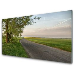 Panel Kuchenny Droga Drzewo Trawa Krajobraz