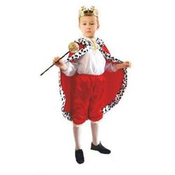 Kostium Król czerwony rozmiary: od 110 do 140 cm - S, M, L - S - 110/116 cm