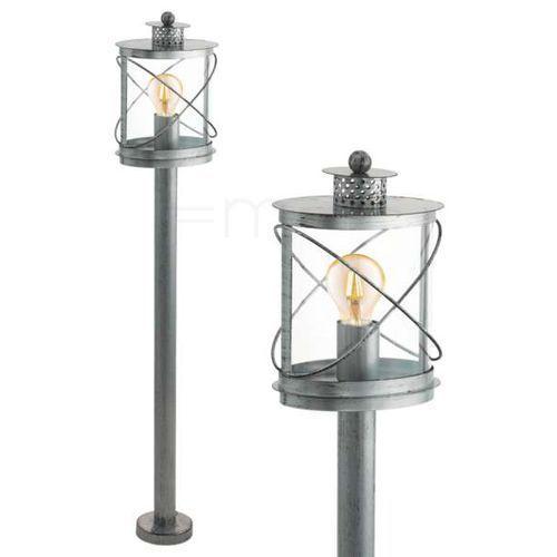 Lampy ogrodowe, Lampa stojąca Eglo Hilburn 1 94868 oprawa zewnętrzna 1x60W E27 IP44 srebrny/orzech