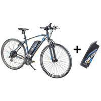 """Pozostałe rowery, Crossowy rower elektryczny Devron 28161 z zapasowym akumulatorem 14,5 Ah - model 2017, Czarny, 19"""""""