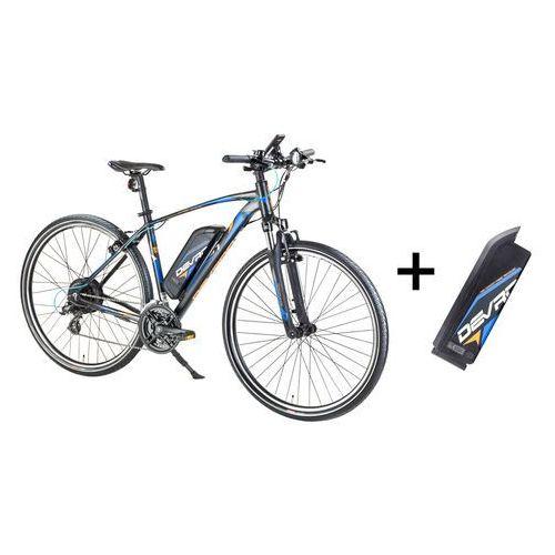"""Rowery elektryczne, Crossowy rower elektryczny Devron 28161 z zapasowym akumulatorem 14,5 Ah - model 2017, Czarny, 19"""""""
