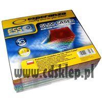 Pudełka i portfele na płyty, Pudełko plastikowe SLIM kolorowe 10szt.
