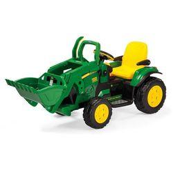 PEG PEREGO Traktor koparka elektryczna John Deere Ground Loader - BEZPŁATNY ODBIÓR: WROCŁAW!