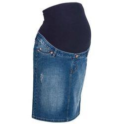 """Spódnica ciążowa dżinsowa """"super-stretch"""" bonprix niebieski """"stone"""""""