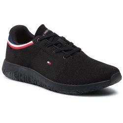 Sneakersy TOMMY HILFIGER - Lightweight Knit Runner Collar FM0FM03614 Black BDS