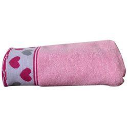 Greno Ręcznik dziecięcy Sharpei 70x125 cm, różowy