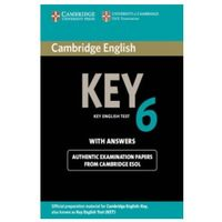 Książki do nauki języka, Cambridge English Key (KET) 6 Podręcznik z Odpowiedziami (opr. miękka)